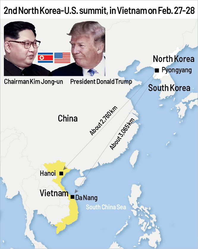 2nd North Korea-U.S. summit, in Vietnam on Feb. 27-28