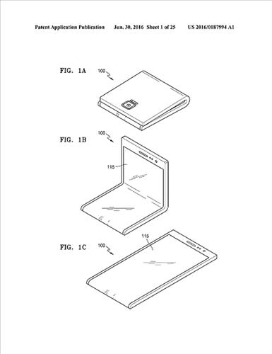 Samsung registers patent for bendable display in U.S. - 1