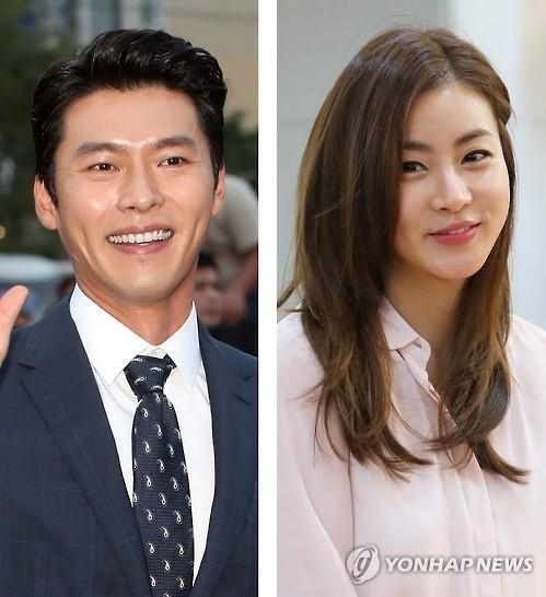 These photos show Hyun Bin (L) and Kang So-ra. (Yonhap)