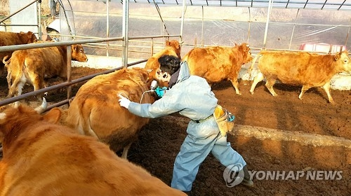 (2nd LD) S. Korea reports suspected outbreak of foot-and-mouth disease
