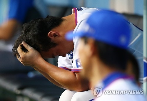 This file photo taken on June 26, 2016, shows An Ji-man, once a pitcher for the Samsung Lions in the Korea Baseball Organization (KBO), at Daegu Samsung Lions Park in Daegu, some 302 kilometers south of Seoul. (Yonhap)