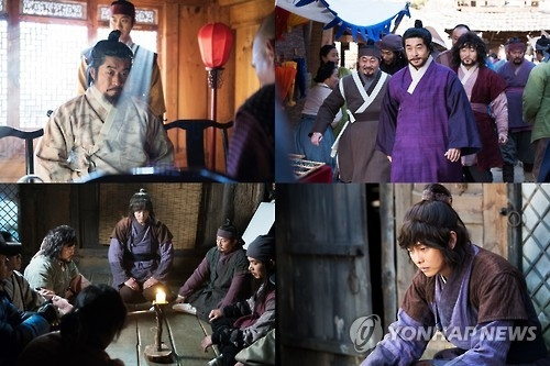 "This composite image shows highlight scenes from MBC TV's Monday-Tuesday series ""Rebel: Thief Who Stole The People."" (Yonhap)"