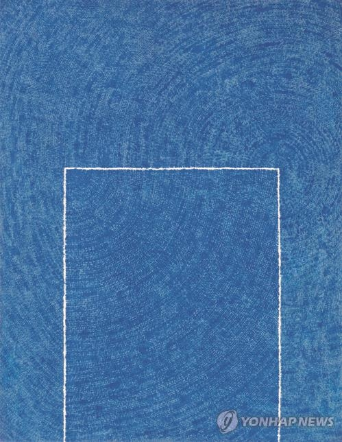"This file photo shows ""Tranquility 5-IV-73 #310"" by late abstract master Kim Whan-ki, which sold for 6.55 billion won during the April auction by K Auction. (Yonhap)"