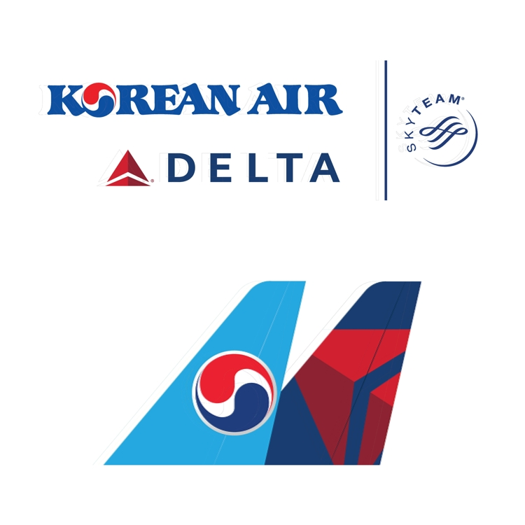 The joint venture logo of Korean Air Lines and Delta (Yonhap)