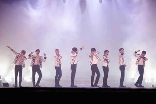 This photo of EXO's Hong Kong concert was provided by SM Entertainment. (Yonhap)