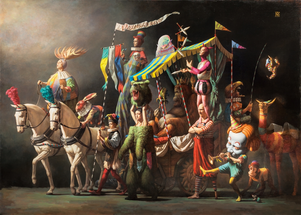 (Yonhap Interview) Surreal circus troupe brought to life in realistic paintings, fantastical novel