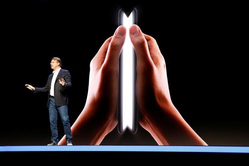 Samsung Electronics Co. Senior Vice President Justin Denison talks during the Samsung Developer Conference 2018 in San Francisco on Nov. 7, 2018. (Yonhap)