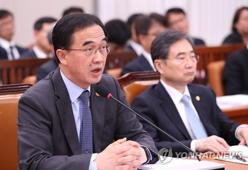 This file photo shows Minister of Unification Cho Myoung-gyon. (Yonhap)