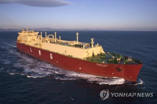 This photo provided by Samsung Heavy Industries Co. shows one of its liquefied natural gas carriers. (Yonhap)