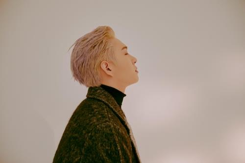 The photo, provided by Cube Entertainment, shows Lee Chang-sub, the lead vocalist of boy band BTOB. (Yonhap)