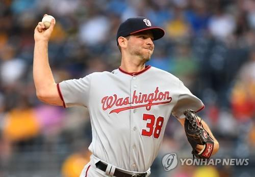 In this Getty Images file photo from May 17, 2017, Jacob Turner, then with the Washington Nationals, pitches against the Pittsburgh Pirates during the bottom of the first inning of a Major League Baseball regular season game at PNC Park in Pittsburgh, Pennsylvania. Turner has signed with South Korean ball club Kia Tigers. (Yonhap)