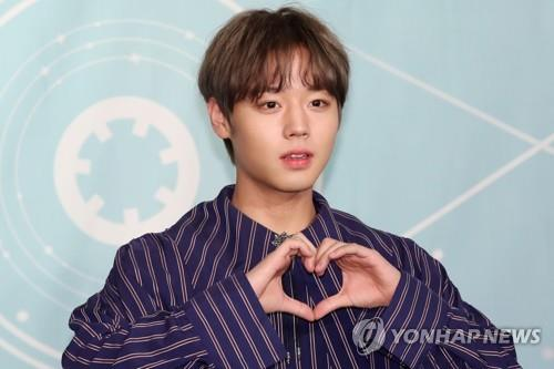 This image shows Wanna One member Park Ji-hoon. (Yonhap)
