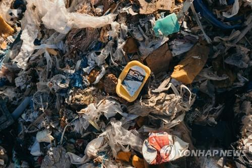 This undated photo, released by Greenpeace, shows the trash shipped from South Korea to the Philippines. (Yonhap)