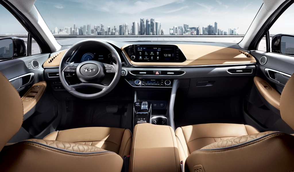 The Hyundai Sonata's interior design (Yonhap)