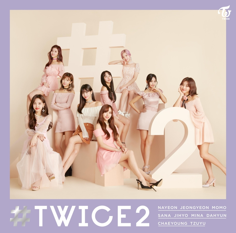 "This image of TWICE's Japanese album ""#TWICE2"" is provided by JYP Entertainment. (Yonhap)"