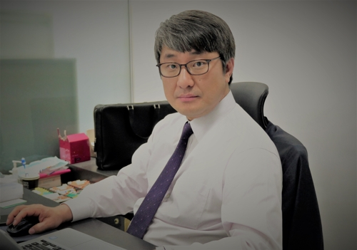 Brian Oh, CEO of 3D Factory Co., a South Korean start-up in VR and AR content, is shown in this photo provided by the company on April 19, 2019. (Yonhap)