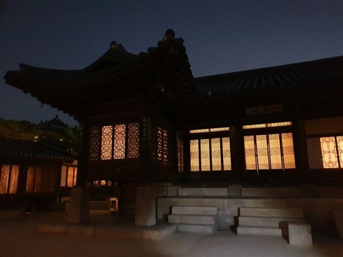 This photo, taken during the Moonlight Tour on May 16, 2019, shows Nakseonjae inside Changdeok Palace in Seoul. (Yonhap)