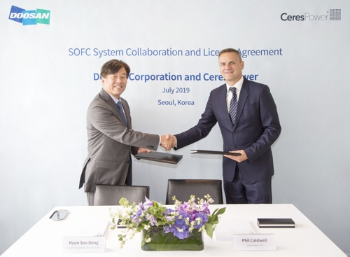 Doosan to co-develop solid oxide fuel cell power systems with Ceres Power