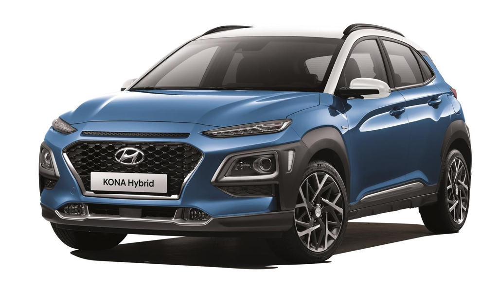 This photo provided by Hyundai Motor shows the company's Kona hybrid. (PHOTO NOT FOR SALE) (Yonhap)