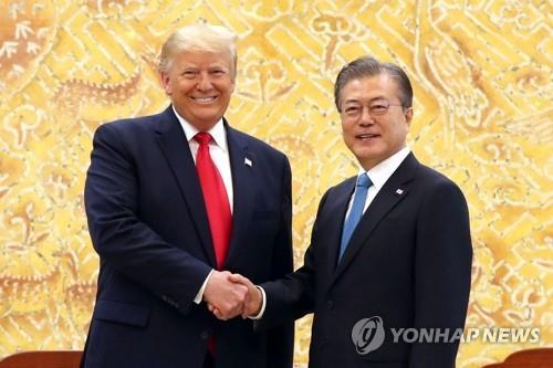 Moon, Trump to hold talks Monday on peace process in New York