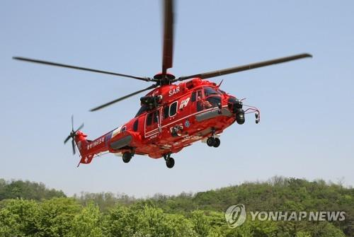 (5th LD) Rescuers find crashed chopper, body of presumed victim near Dokdo - 1