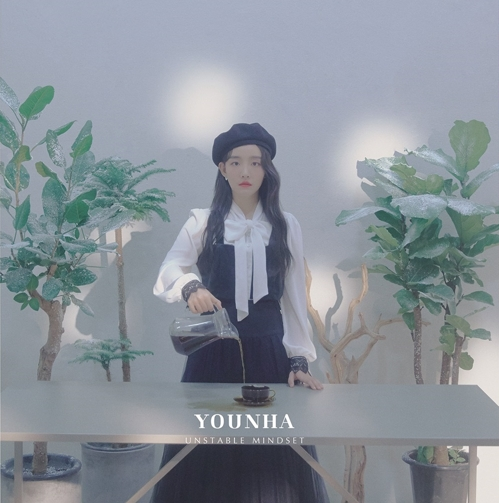 "This image of Younha's new album ""Unstable Mindset"" was provided by C9 Entertainment. (PHOTO NOT FOR SALE) (Yonhap)"