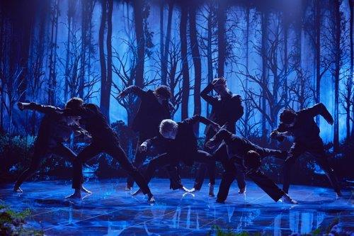 "This photo of BTS' performance of ""Black Swan"" during ""The Late Late Show with James Corden"" on Jan. 29, 2020, was provided by Terence Patrick via Big Hit Entertainment. (PHOTO NOT FOR SALE) (Yonhap)"