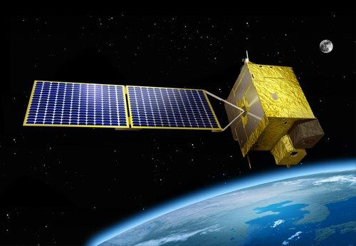 This image provided by the Ministry of Science and ICT shows the Chollian-2B in orbit around the Earth. (PHOTO NOT FOR SALE) (Yonhap)
