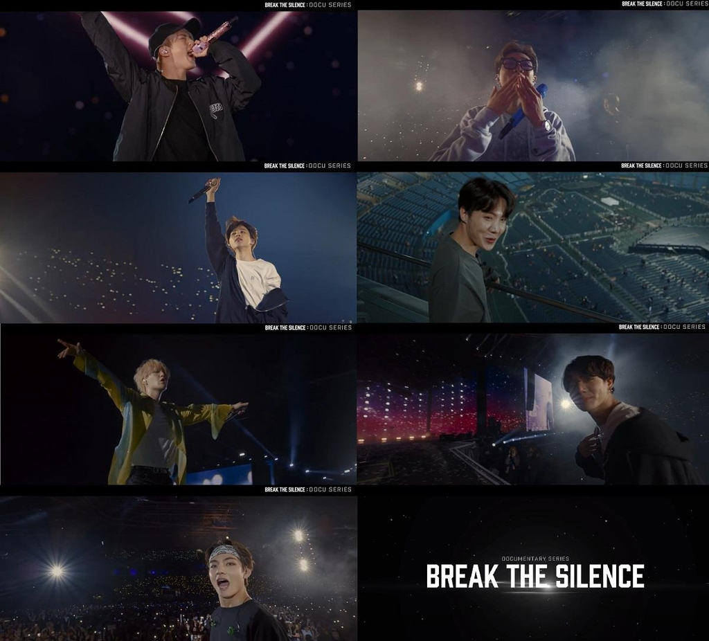 "These images from the new BTS documentary series ""Break the Silence"" are provided by Big Hit Entertainment (PHOTO NOT FOR SALE) (Yonhap)"