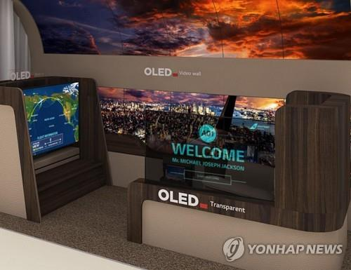 This image, provided by LG Display Co., shows the company's OLED display products. (PHOTO NOT FOR SALE) (Yonhap)