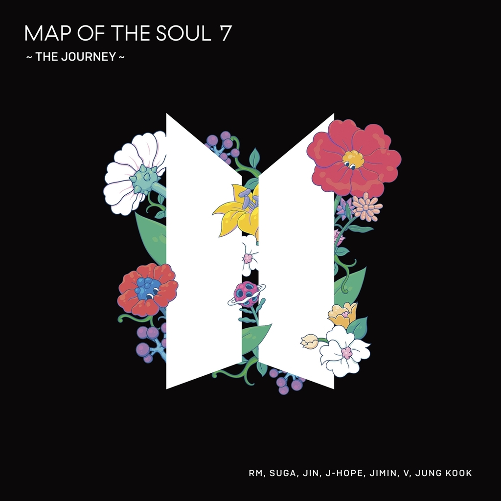 "This image provided by Big Hit Entertainment shows the cover art for ""Map of the Soul: 7 - The Journey,"" the fourth Japanese studio album by K-pop band BTS. (PHOTO NOT FOR SALE) (Yonhap)"