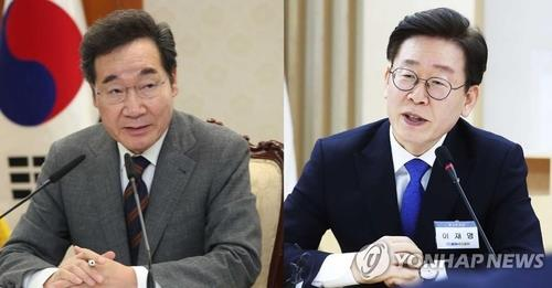 This composite file photo shows Rep. Lee Nak-yon (L) of the ruling Democratic Party and Gyeonggi Province Gov. Lee Jae-myung. (Yonhap)