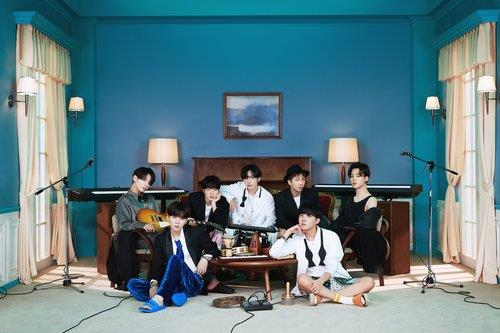 "This photo, provided by Big Hit Entertainment, shows a concept photo for the latest BTS album ""BE."" (PHOTO NOT FOR SALE) (Yonhap)"