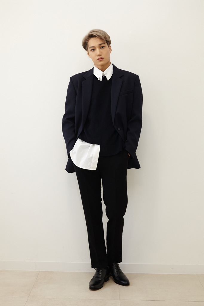 This photo provided by SM Entertainment shows singer Kai. (PHOTO NOT FOR SALE) (Yonhap)