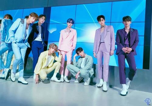 This photo, provided by Top Media, shows members of K-pop boy band UP10TION. (PHOTO NOT FOR SALE) (Yonhap)