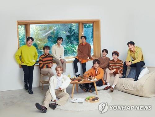 This photo, provided by SJ Lable, shows boy band Super Junior. (PHOTO NOT FOR SALE) (Yonhap)