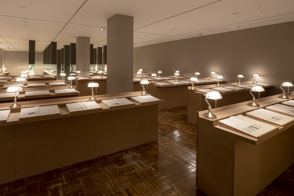 "This photo, provided by the National Museum of Modern and Contemporary Art, shows an exhibition space for its upcoming exhibition ""Encounters Between Korean Art and Literature in the Modern Age."" (PHOTO NOT FOR SALE) (Yonhap)"