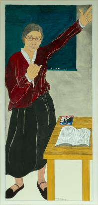 This image, provided by Hakgojae Gallery, shows Yun Suk-nam's portrait of independence fighter Kim Maria (1892-1944). (PHOTO NOT FOR SALE) (Yonhap)