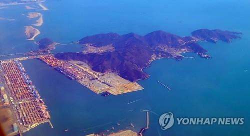 This image shows Busan's Gadeok Island on Feb. 4, 2021. (Yonhap)