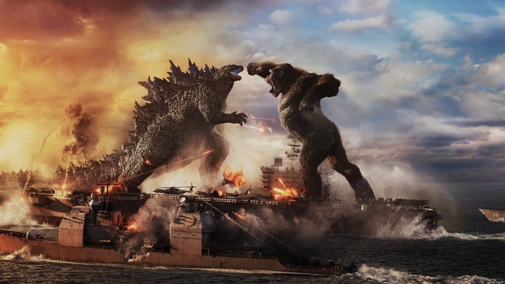 "This image provided by Warner Bros. Korea shows a scene from ""Godzilla vs. Kong."" (PHOTO NOT FOR SALE) (Yonhap)"