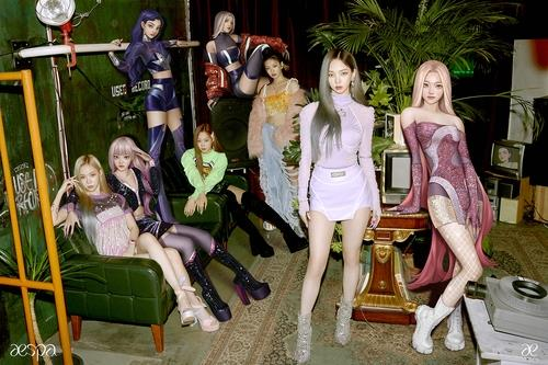 This photo, provided by SM Entertainment, shows rookie girl group aespa, who debuted in November last year. (PHOTO NOT FOR SALE) (Yonhap)
