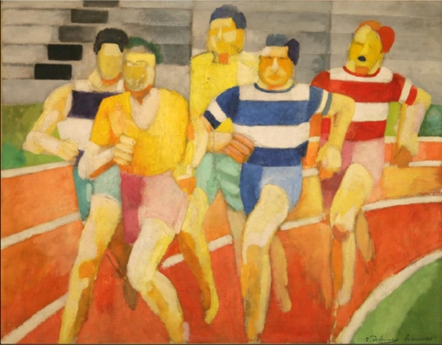 «Les Coureurs» de Robert Delauday ⓒ Laurent Lecat / Musee d'Art moderne de Troyes, collections nationales Pierre et Denise Levy