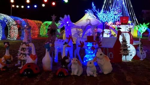 진안 소원빛축제 동물모형들
