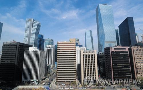 크고 작은 회사가 밀집해 있는 서울 여의도 일대의 빌딩숲. 강민지 연합뉴스 기자