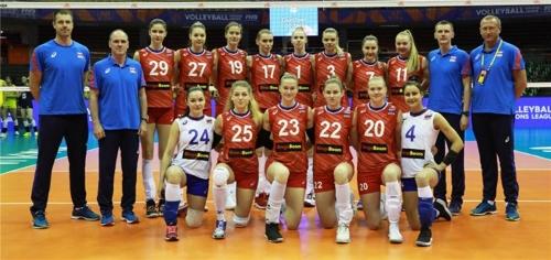 러시아 여자배구 대표팀 선수단