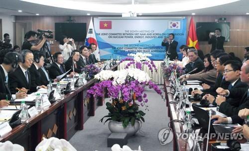 2018년 2월 베트남 하노이에서 개최된 제8차 한·베트남 산업공동위원회