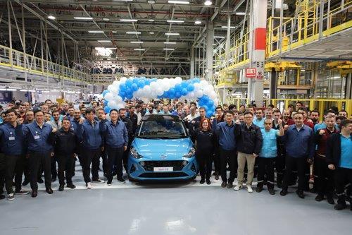 지난해 12월 현대차 터키 이즈미트 공장에서 열린 신형 i10 양산 기념식