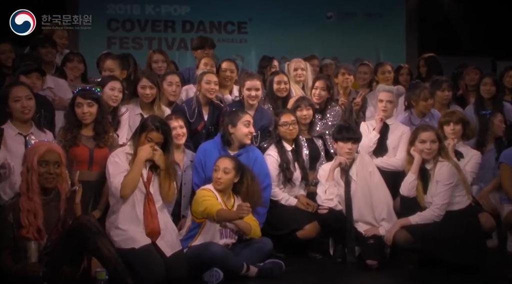 2018년 로스앤젤레스에서 열렸던 K팝 댄스 대회