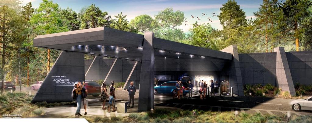 디즈니가 공개한 디즈니월드 리조트 '갤럭틱 스타크루저' 호텔 콘셉트. [디즈니 홈페이지 갈무리=연합뉴스. 재판매 및 DB금지]