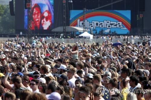 미국 시카고에서 열렸던 록 축제 '롤라팔루자'